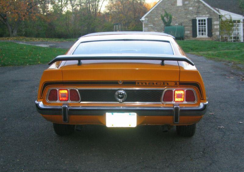 Custom Grabber Orange 1973 Mustang Mach1 Fastback