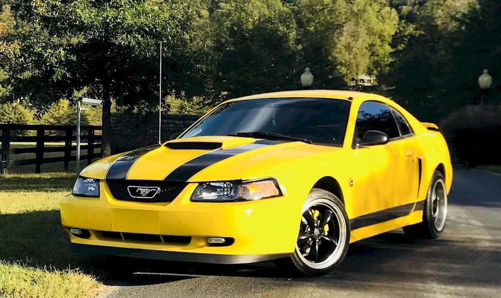 Screaming Yellow 2004 Mustang GT