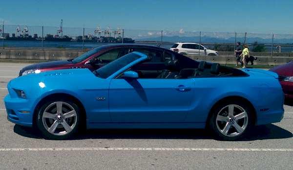 Grabber Blue 2014 Mustang GT Convertible