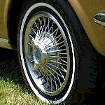 Half Wire Standard Wheel Cover 13 Inch With Center Stamped Ford And Mustang Ive Never Seen On A Though