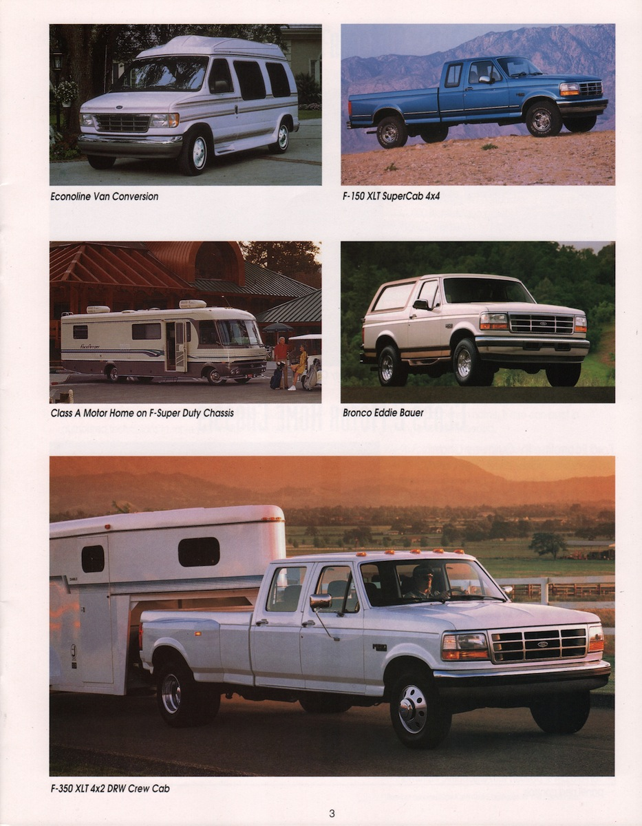 recreation vehicles ford truck sales brochure