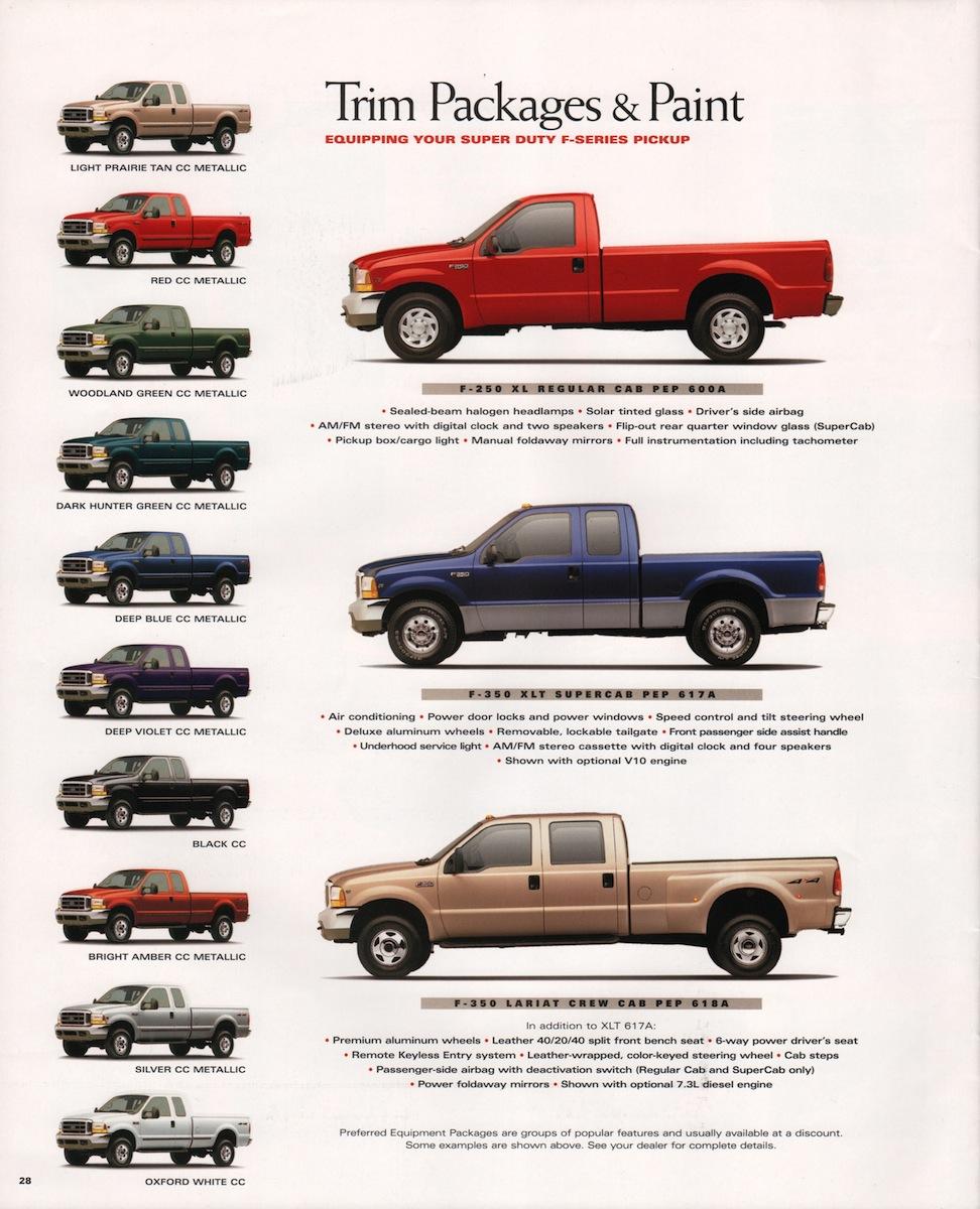 1999 Super Duty F-Series Ford Truck Sales Brochure