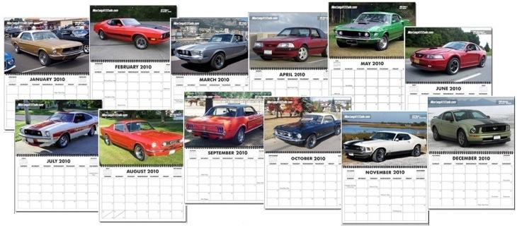 2010 Mustang Calendar