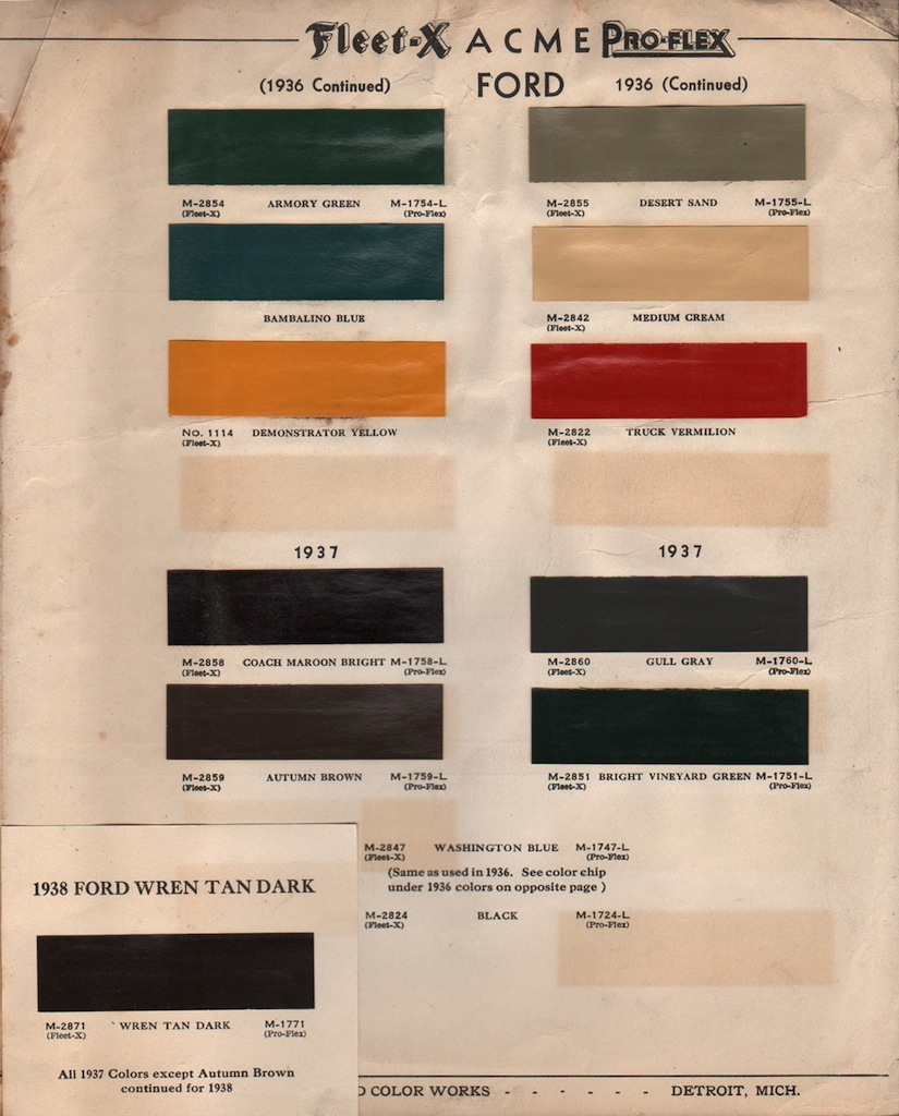 Paint chips 1938 ford zephyr nvjuhfo Images