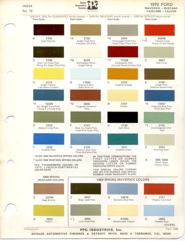 paint chip pages are presented for research use only company marks emblems and page design are trademarks andor service marks of ppg - Ford Truck Paint Colors
