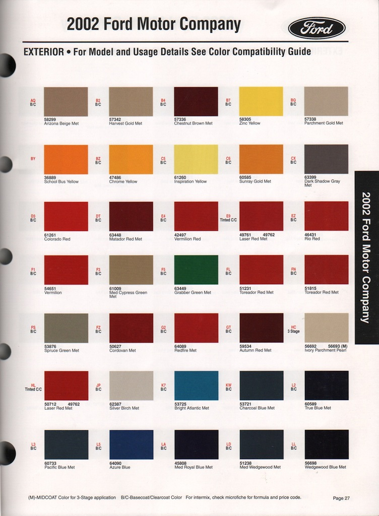 Ford Interior Color Codes Home Decor Eventasaurus