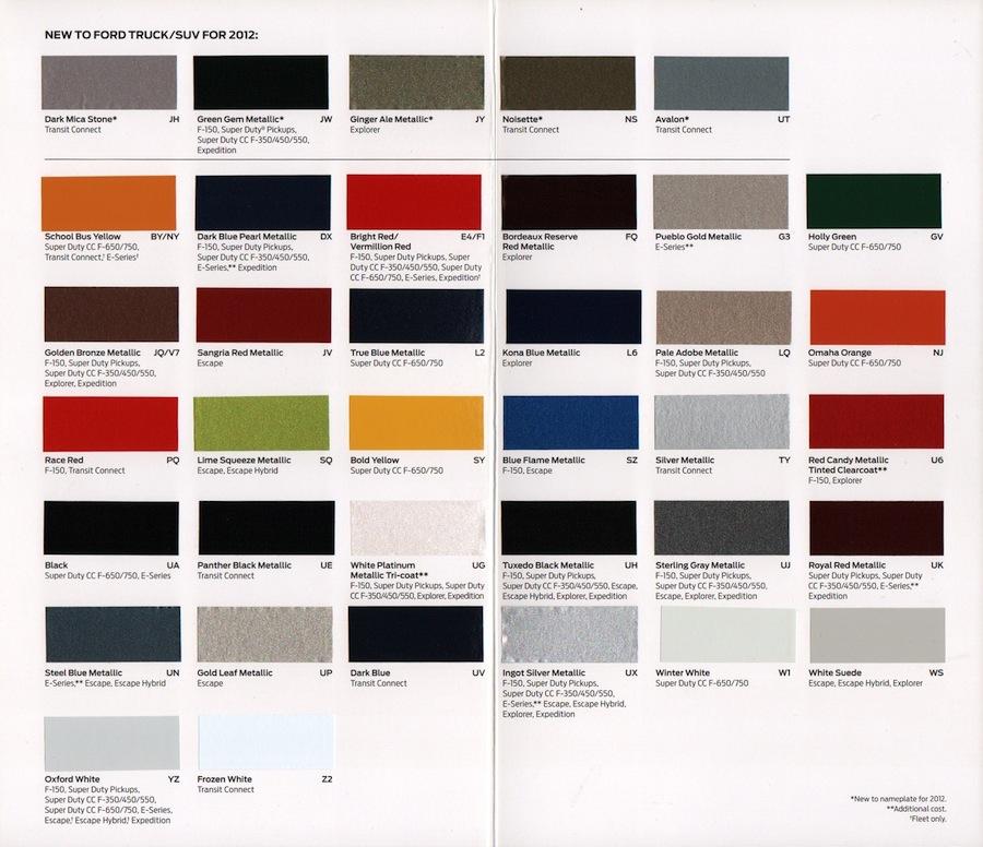 Auto Paint Chart >> 1970 Ford Mustang Paint Colors Color Codes.html | Autos Weblog