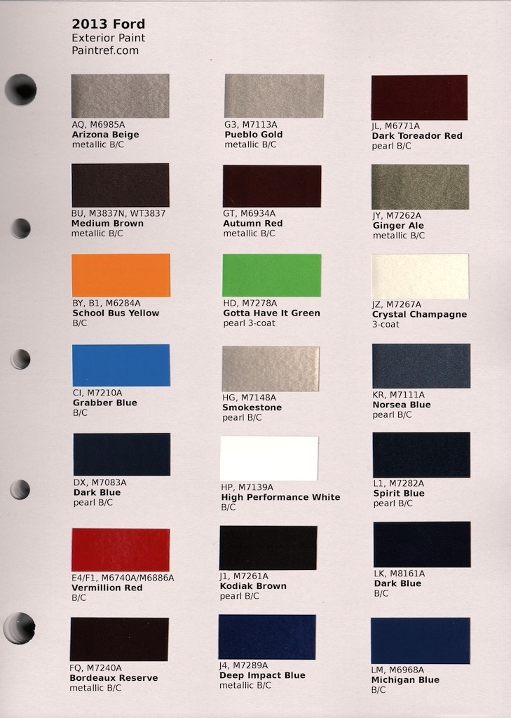 paint chips 2013 ford mustang