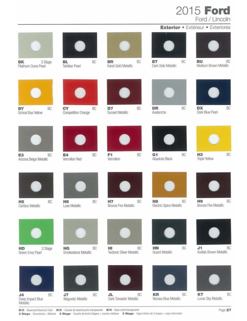 Paint Chips 2015 Ford C Max