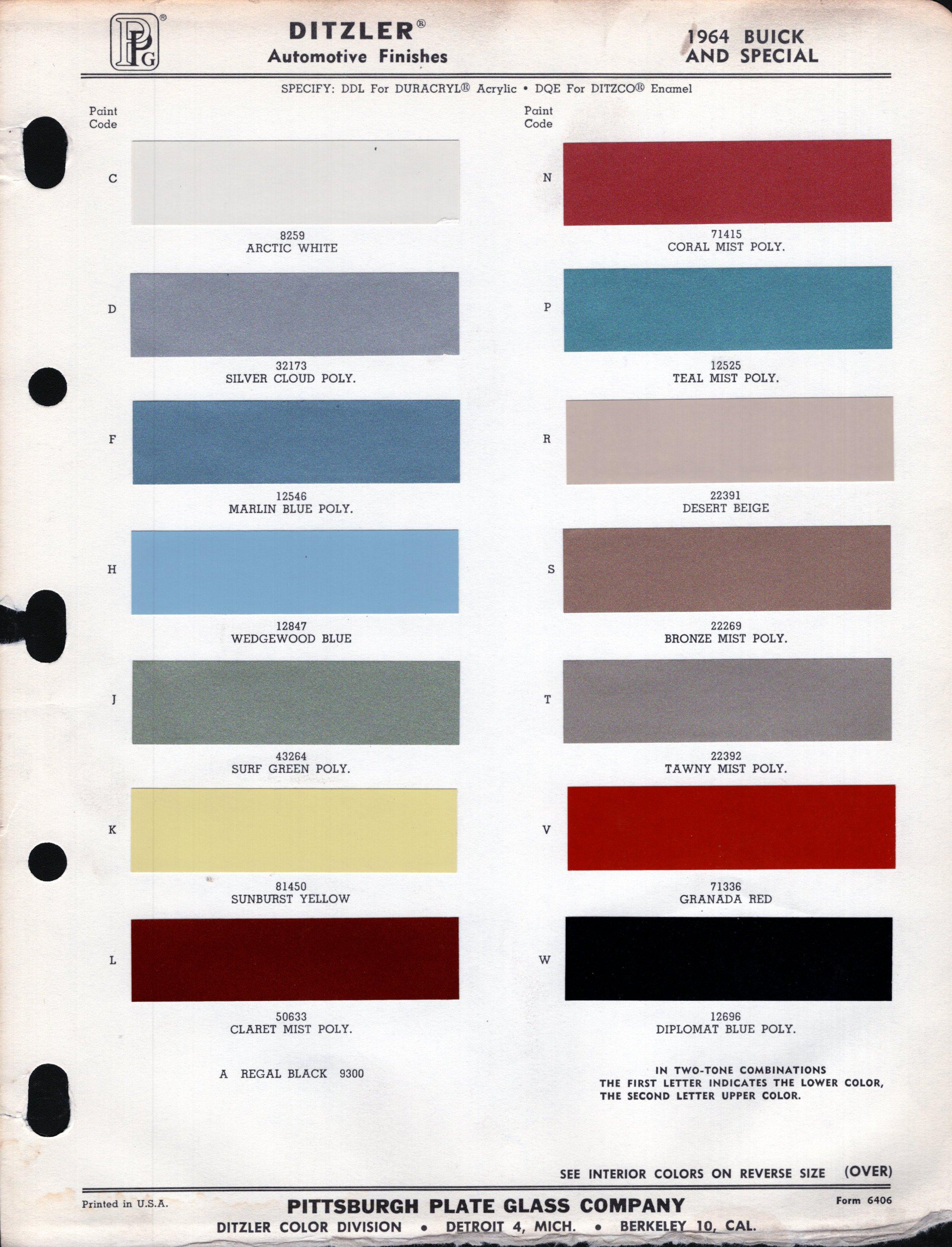 Chevelle Paint Codes