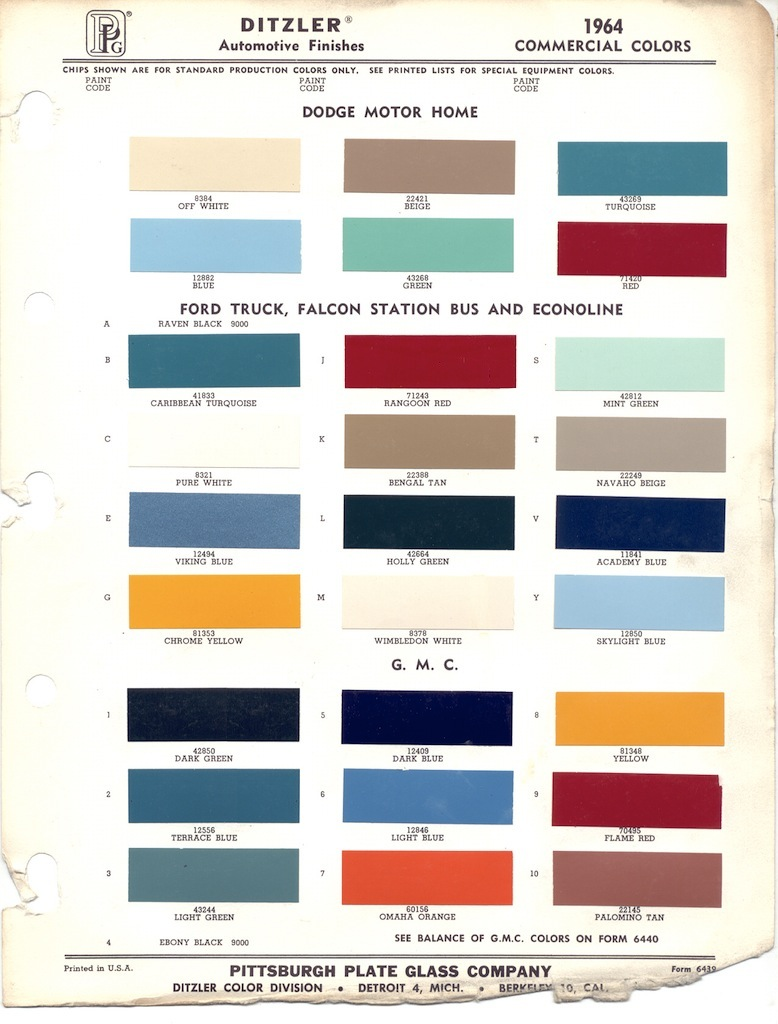 Ppg ford paint colors driverlayer search engine for Paint color chips