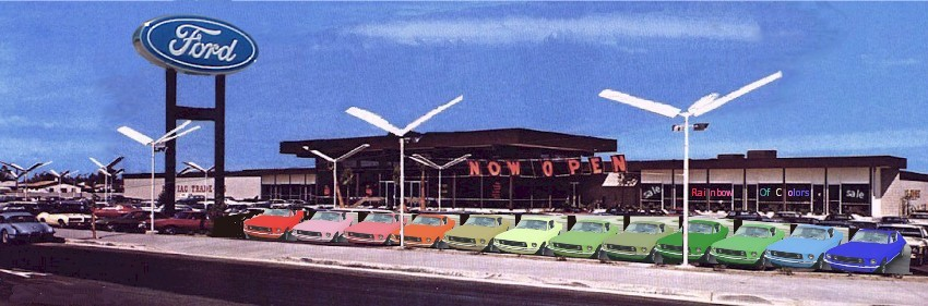 1968 1969 Rainbow Of Colors Mustangs Mustangattitude Com