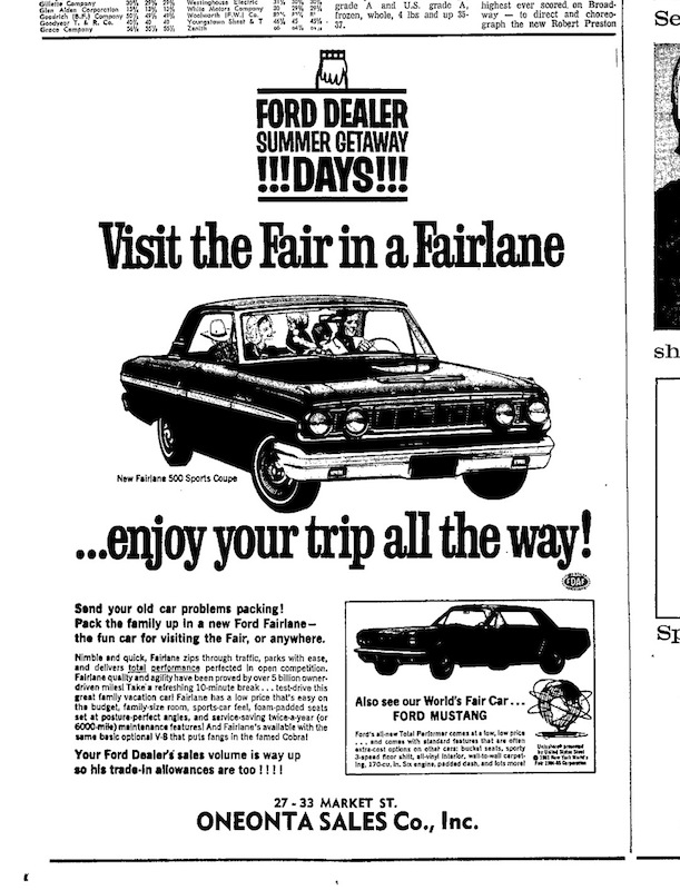 1964 Mustang Newspaper History