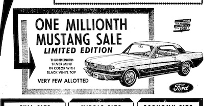 1966 Mustang Newspaper History