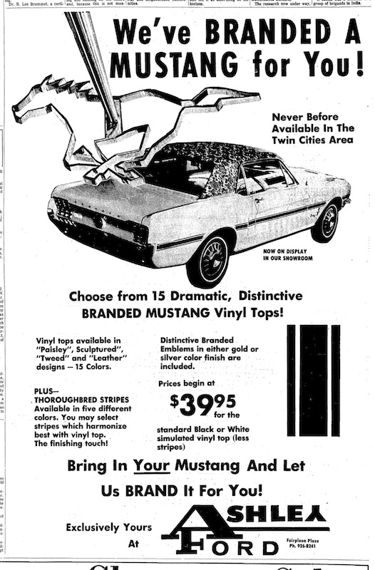 1969 Mustang Newspaper History