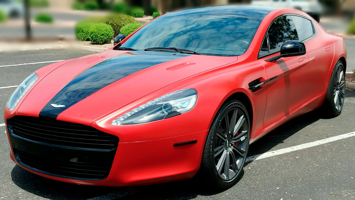 Fire Red 2010 Aston Martin