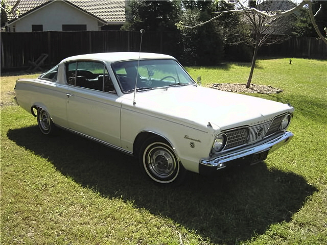 White 1966 Chrysler Plymouth Barracuda