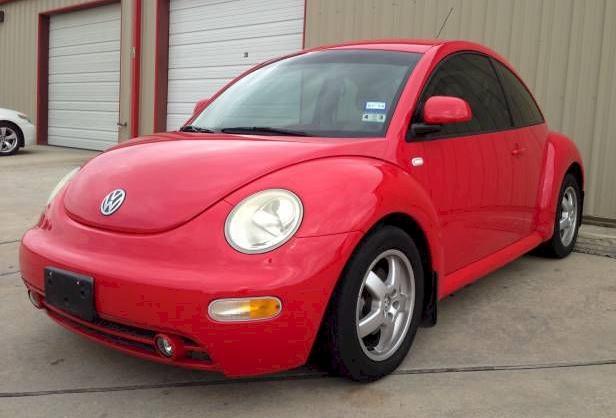 Red 2000 Volkswagen Beetle
