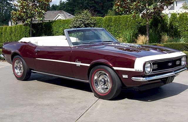 Cordovan Maroon 1968 GM Chevrolet Camaro