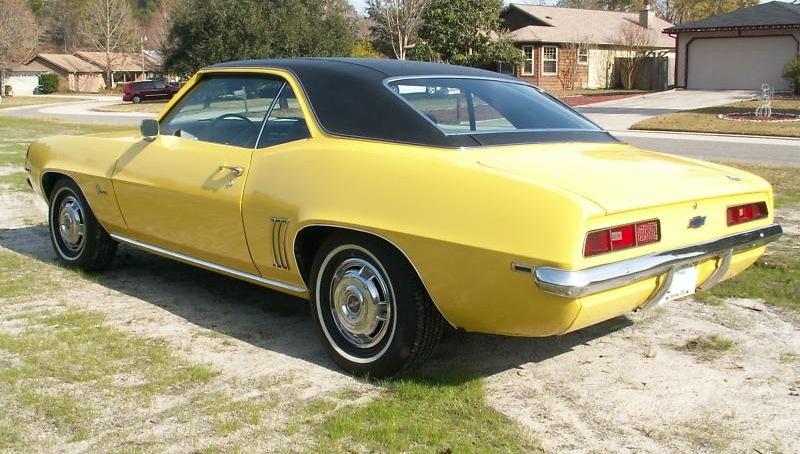 Daytona Yellow 1969 GM Chevrolet Camaro