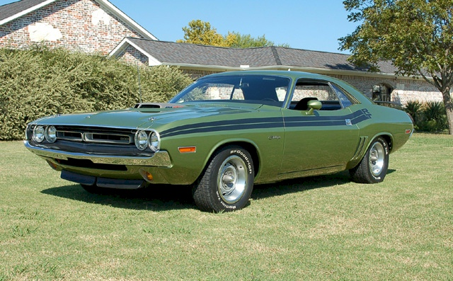 Medium Green 1971 Chrysler Dodge Challenger Hemi