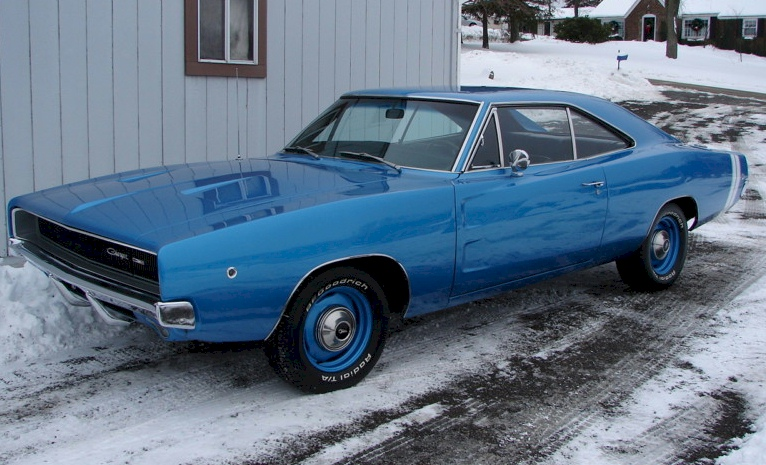 Bright Blue 1968 chrysler Dodge charger
