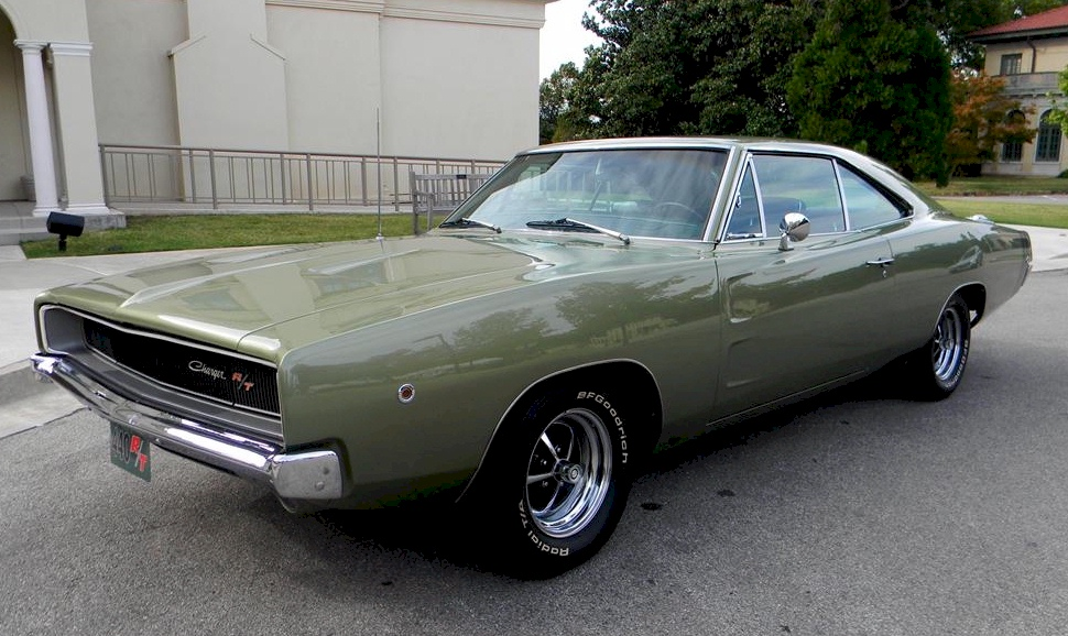 Medium Green 1968 chrysler Dodge charger R/T