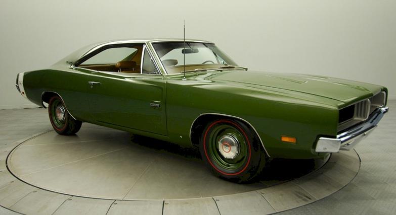 Dark Green 1969 Chrysler Dodge Charger R/T