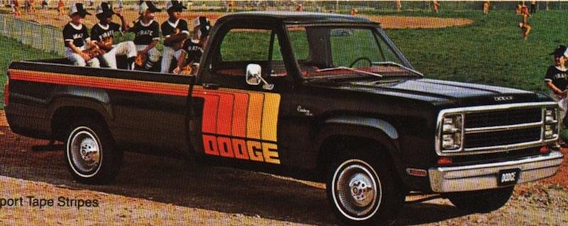 Black 1980 Dodge Truck Pickup