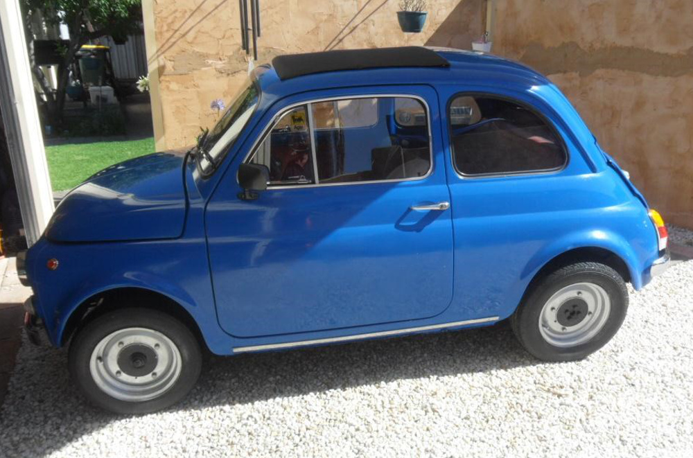 French Blue 1970 Fiat  500