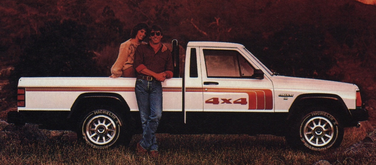 Olympic White 1986 Jeep Comanche