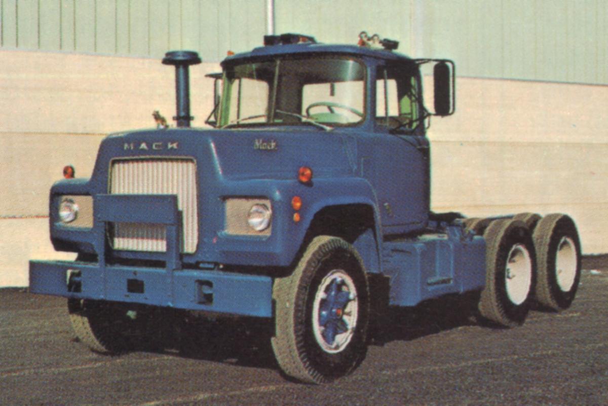 Marine Blue 1968 Mack Truck R