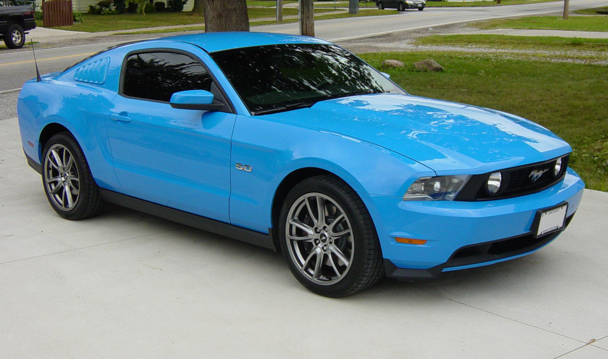 Grabber Blue 2014 Ford Mustang Paint Cross Reference