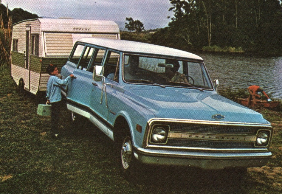 Light Blue 1969 Chevy Truck Suburban
