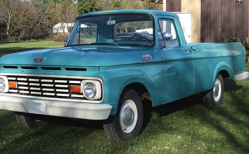 Car paint color samples - Caribbean Turquoise 1963 Ford Truck F100 Paint Cross Reference