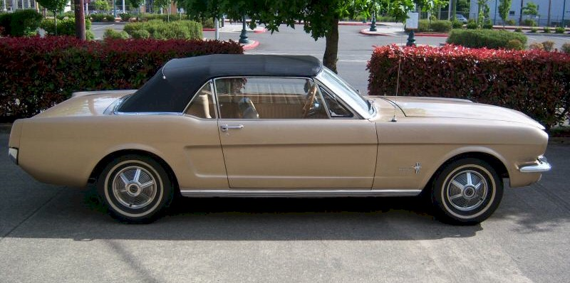 Chantilly Beige 64 Mustang Convertible