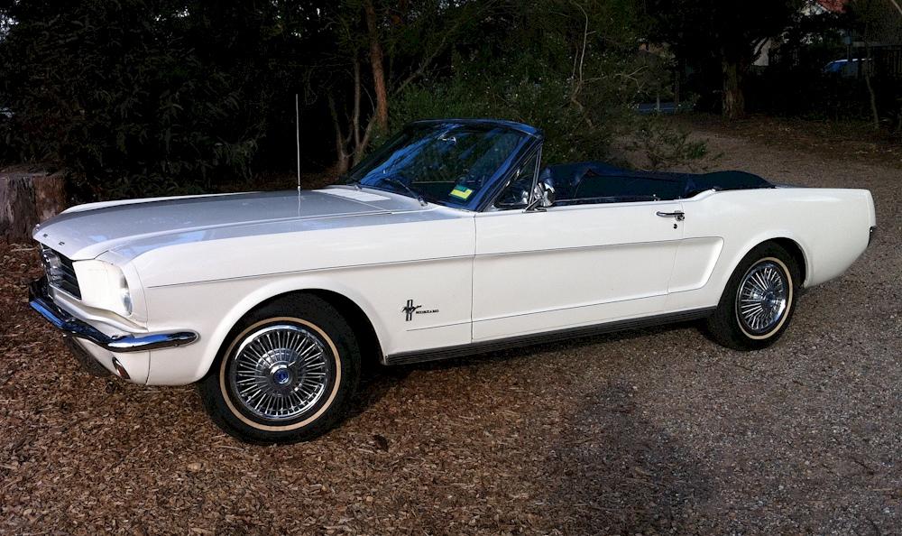Wimbledon White 1964 Mustang Convertible