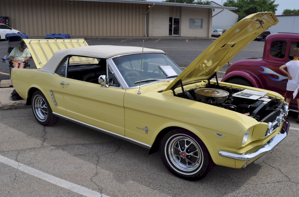 Sunlight Yellow 1964 Mustang Convertible