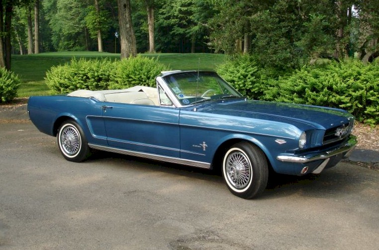 Guardsman Blue 1964 Mustang Convertible