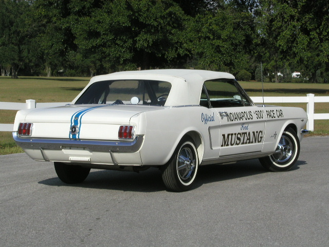 White 1964 Mustang Indianapolis 500 Pace Car Convertible