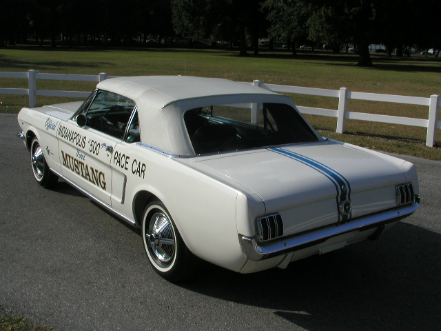 White 64 Mustang Indianapolis 500 Pace Car Convertible