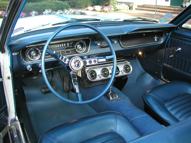 Blue Interior 1964 Mustang Indianapolis 500 Pace Car Convertible
