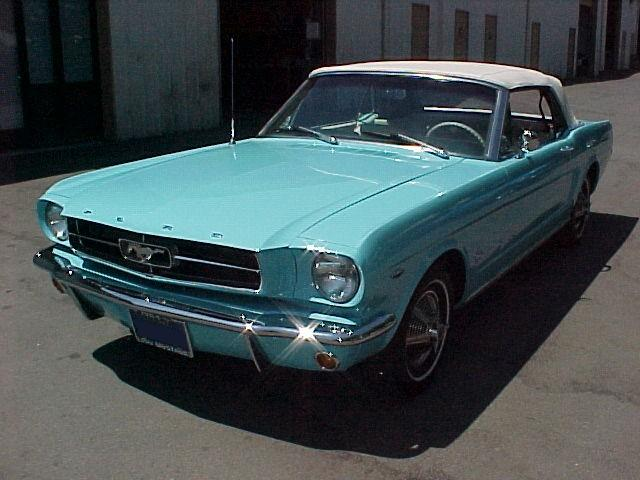 Tropical Turquoise 1964 Mustang Convertible