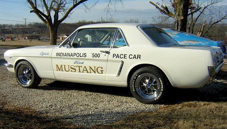 White 1964 Mustang Indianapolis Pace Car