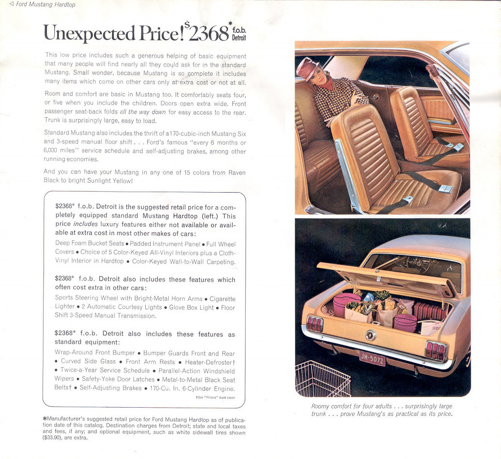 1964 Ford Mustang Promotional Book
