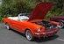 Poppy Red 1964 Mustang convertible
