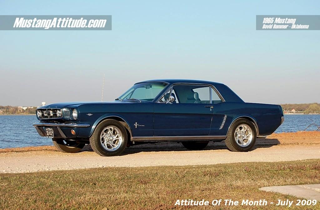 Caspian Blue 1965 Ford Mustang Hardtop Aotm