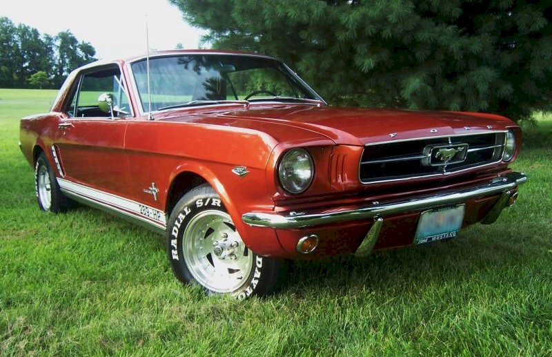 Red 65 Mustang