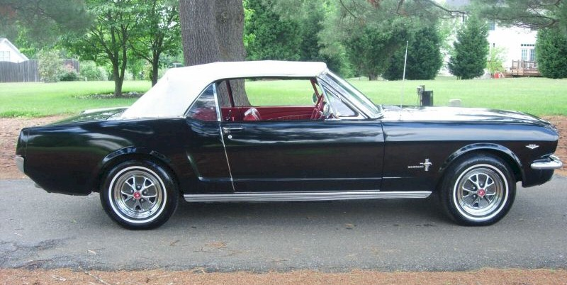 Raven Black 1965 Ford Mustang Convertible