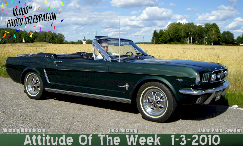 Ivy Green 1965 Mustang Convertible